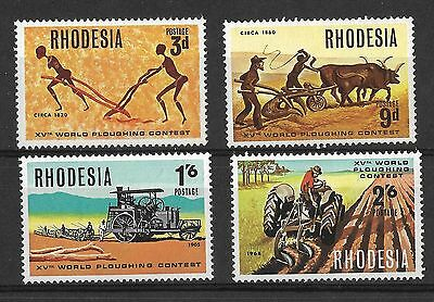 Rhodesia, 1968,15Th World Ploughing Contest, Sg 422-25, Mnh Set 4