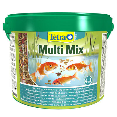 10 L Tetra Pond Multi Mix Hauptfutter aus Flocken Sticks Wafer Gammaruskrebse