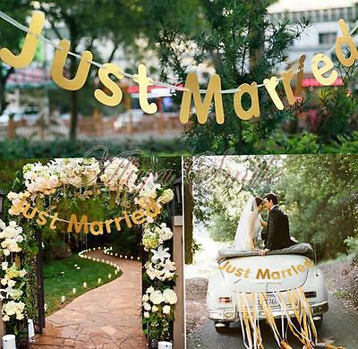 Just Married Garland Wedding Banner Car Bunting Western Venue Party Decorations