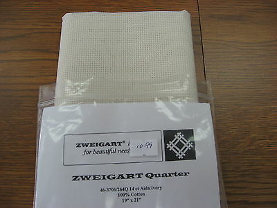 Zweigart Fabrics 14 ct Count Aida Cloth Ivory