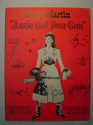 Annie Get Your Gun, U.S. tour, SIGNED by producer RICHARD ROGERS, 1947/48