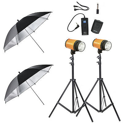 Studio Kits(C-300/300SDI Strobe Lights+Light Stands+Umbrellas+Trigger &Receiver)