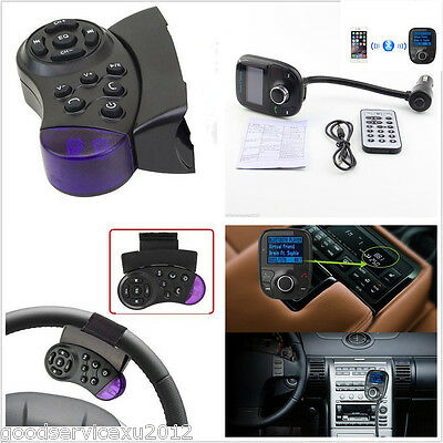 Car Bluetooth Music Player SD MMC Radio FM USB Handsfree Steering Wheel Control