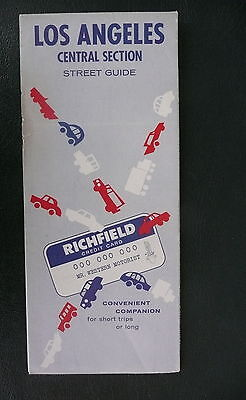 1962 Los Angeles street map Richfield oil central section