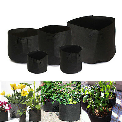 Round Fabric Pots Plant Pouch Root Container Grow Bag Aeration Pot Container RUL