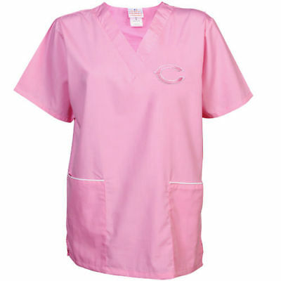 Chicago Bears Cancer Care Scrub Top - Pink - NFL