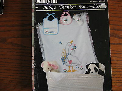 Baby Blanket Ensemble Cross Stitch  Pattern Booklet