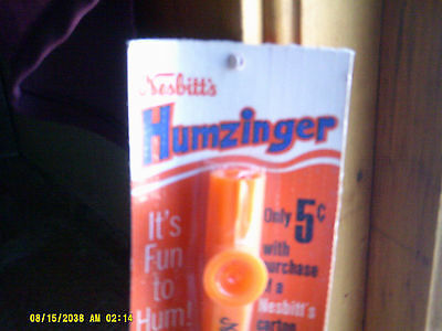 Lot Of 2 Vintage Nesbitt's Soda Humzinger NEW sealed pkg.  (*)