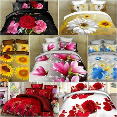 High Quality 3D Photo Print Bedding Set Duvet Cover Single Double King Size Gift