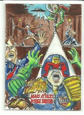 2016 Topps Mars Attacks Occupation - Judge Dredd Sketch Card by Neil Camera