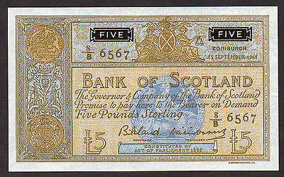 Tricky   1967   £5 Bank Of Scotland  Au
