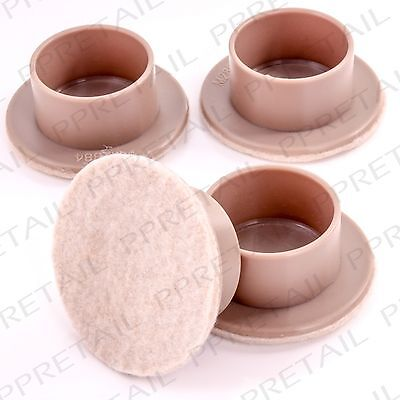Large Felt Padded Castor Cups Anti-Scratch Table/Chair Floor Glides CHOOSE QTY