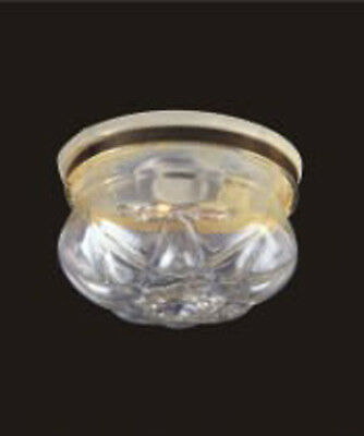 1:12 Scale Working Ceiling Light Clear Shade Dolls House Miniature 4011