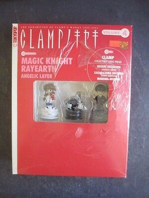 New Clamp Vol 4 Magic Earth Rayearth W/ 3 Collectible Chess Piece Tokyopop Manga