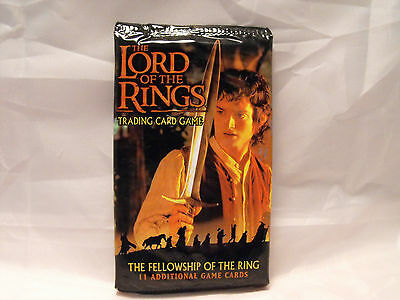 Lord Of The Rings Tcg Fellowship Of The Ring Sealed Booster Pack Of 11 Cards