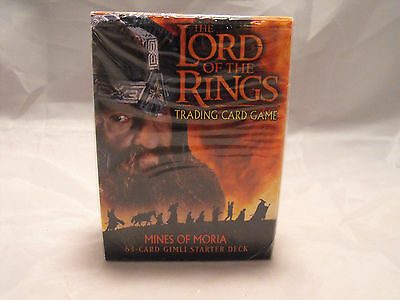 Lord Of The Rings Tcg Mines Of Moria Sealed Gimli Starter Deck