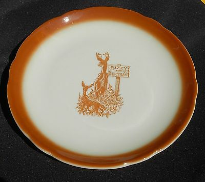 FUZZY and BERTHA'S Dinner Plate 1966 Jackson China Buck and Fawn