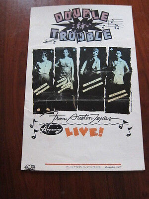 STEVIE RAY VAUGHAN Double Trouble Appearing Live poster original 1979