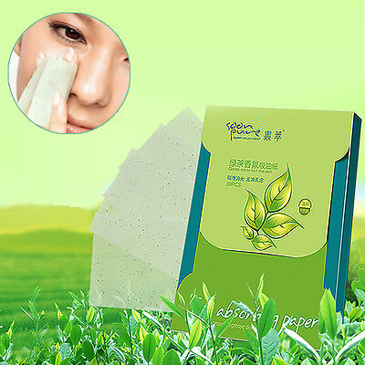 Green Tea Scent Oil Blotting Control Absorbing Facial Face Paper Wipe 80 Sheets