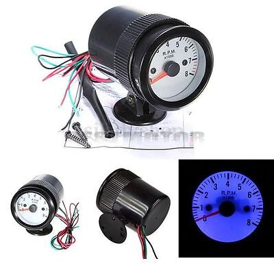2'' 52mm LED Tacho Gauge Meter Tachometer 8000 RPM Pointer Indicator Car Motor