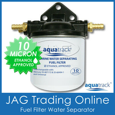 FUEL FILTER WATER SEPARATOR KIT - Outboard/Inboard/Boat Engine/Marine 10 MICRON