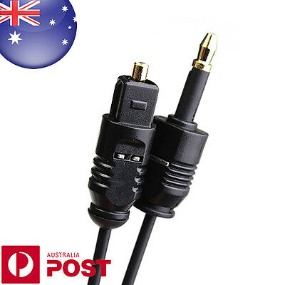 1M Digital Optical Fiber Optic Toslink To 3.5mm Digital Audio Cable  - Z010
