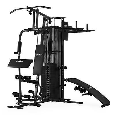 Multi Gym Home Fitness Station Workout Total Body 2 Dumbshells Strength Training
