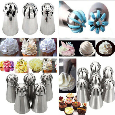 NEW Arrival Russian Flower Icing Piping Nozzles Tips Pastry Cake Baking Tool UK