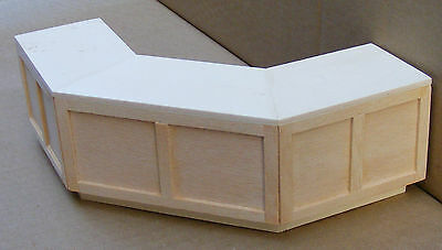 1:12 Scale Natural Finish Angled Counter Dolls House Miniature Accessory YV
