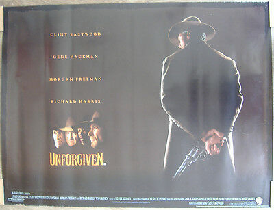 UNFORGIVEN (1992) ORIGINAL S/S UK QUAD POSTER - Clint Eastwood, Gene Hackman