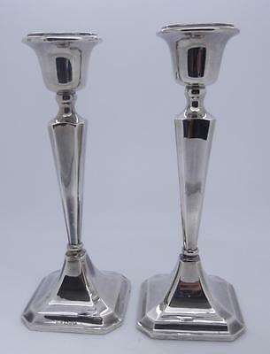 Hallmarked Sterling Silver Pair Of Candlesticks
