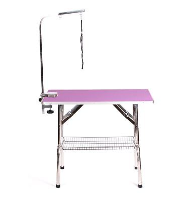 "Pedigroom extra large portable mobile 37"" dog grooming table 95cm x 55cm purple"