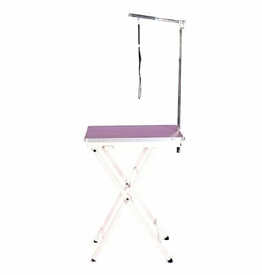 dog cat pet grooming mobile portable show exhibition competition table + arm pur