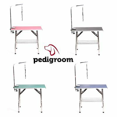 Pedigroom large stainless steel mobile portable dog cat pet grooming table arm