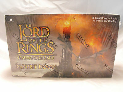 Lord Of The Rings Tcg Mount Doom Complete Sealed Booster Box Of 36 Packs