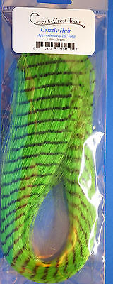 Grizzly Hair Cascade USA synthetisches Haar 40 cm Grizzly Hair Lime Green