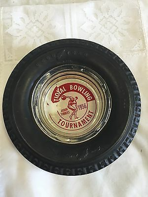 Vintage Goodyear Tire Advertising Ashtray Collectible PREOWNED