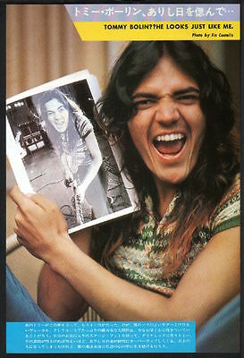 1977 Tommy Bolin JAPAN mag photo pinup / mini poster / deep purple t05m