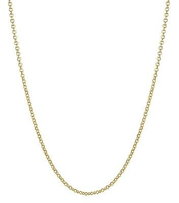 10K Solid Yellow Gold Rolo Link Chain 16 Inch 1.9mm 16""