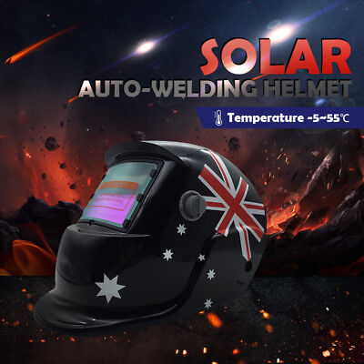 Pro Solar Auto Darkening Welding Helmet Arc Tig Aussie Flag Mask Shield