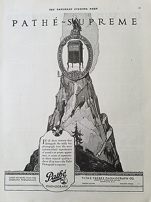 1920 Pathe Supreme Freres Phonograph Co Original Music Ad