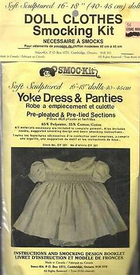 Soft Sculptured Doll Clothes Smocking Kit