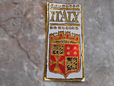 Vintage 1950's Un-used Travel Luggage  Foil / Paper Sticker ~ Italy