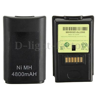 2pcs Wireless 4800mAh Rechargeable Remote Controller Ni-MH Battery for Xbox 360