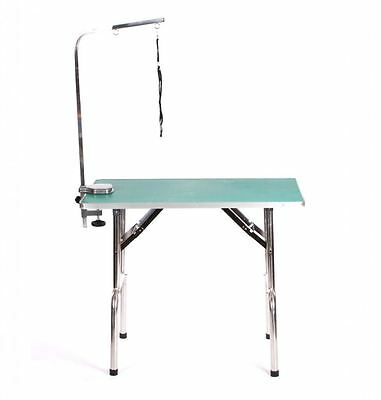 "Pedigroom extra large portable mobile 37"" dog grooming table 95cm x 55cm green"