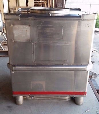 Stainless Steel Tote 350 gallon Hoover IBC tank Listed low to move fast! sku T5