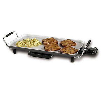 Oster CKSTGR18WC-ECO DuraCeramic Electric Griddle 10.5 x 18.5-Inch White
