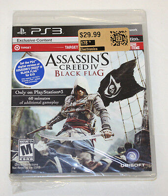 PS3 Game - Assassin's Creed IV Black Flag - TARGET EDITION - BRAND NEW & SEALED