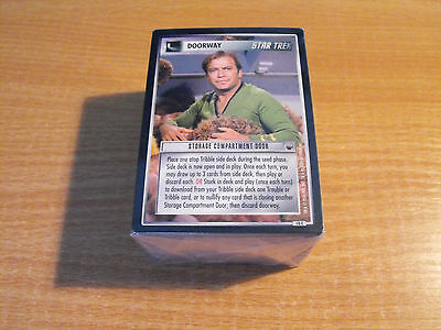 STAR TREK CCG TROUBLE WITH TRIBBLES COMPLETE MASTER SET (no UR)