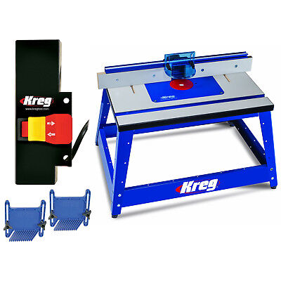 Kreg PRS2100 Bench Top Router Table w/ PRS3100 Table Switch & Featherboards